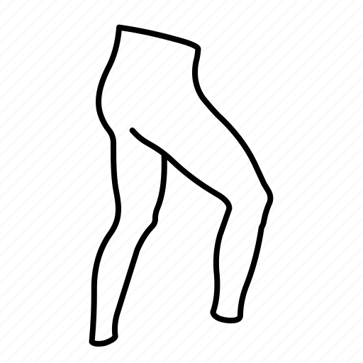 back, leggings icon