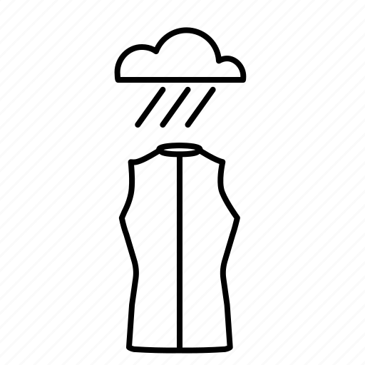 rain, vest icon