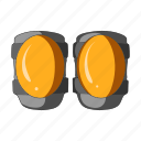 cyclist, equipment, knee pad, kneecap, outfit icon