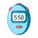 clock, cyclist, equipment, outfit, stopwatch, timer icon