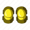 cyclist, elbow pads, equipment, outfit, protection icon