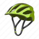 cyclist, equipment, helmet, outfit icon