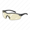 cyclist, equipment, goggles, outfit, protective icon