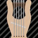 harp, kinnor, music, instrument, lyre