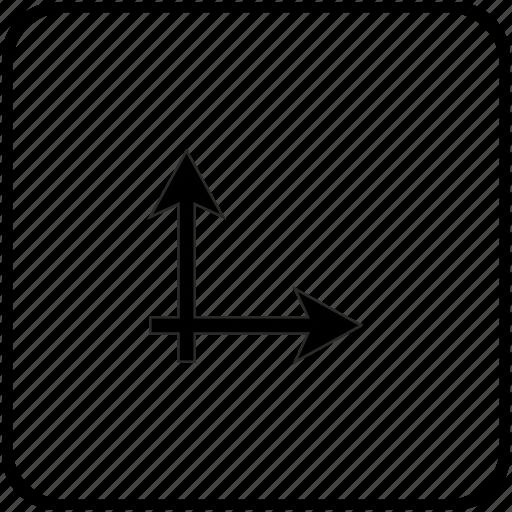 axis, coordinates, math, ox, oy icon