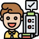 daily, report, checklist, examine, employee