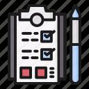 task, clipboard, list, checklist