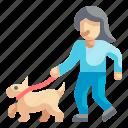 walking, walk, pet, leash, pedestrian