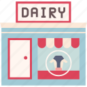 dairy, grocery, milk, organic, product, shop, store icon
