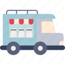 dairy, delivery, milk, product, service, transportation, truck icon