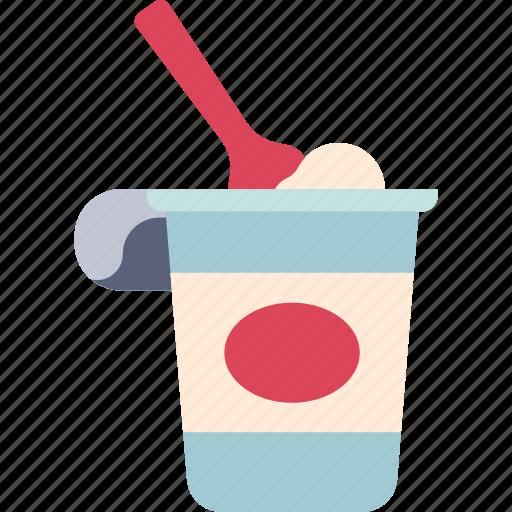 dairy, food, fresh, healthy, milk, yoghurt, yogurt icon