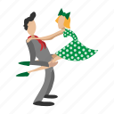 cartoon, couple, dance, dancer, dancing, people, rocknroll icon
