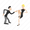cartoon, couple, dance, dancing, love, people, tango icon