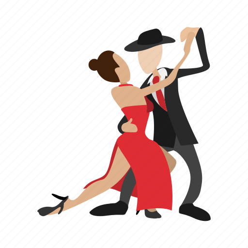cartoon, couple, dance, dancing, love, people, tango icon