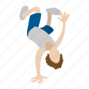 break, breakdancing, cartoon, dancer, hip, hop, people icon