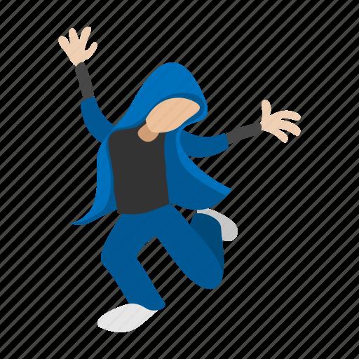 cartoon, dancer, hip, hop, male, people, urban icon