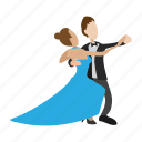 cartoon, couple, dance, dancing, male, pair, waltz icon