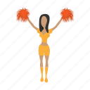cartoon, character, cheerleader, cute, girl, hot, school icon