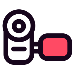 cam, gadget, handy, media, picture icon