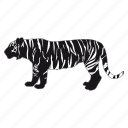 tiger, tigre, zoo icon