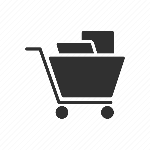 cart, online shopping, push cart, shopping icon