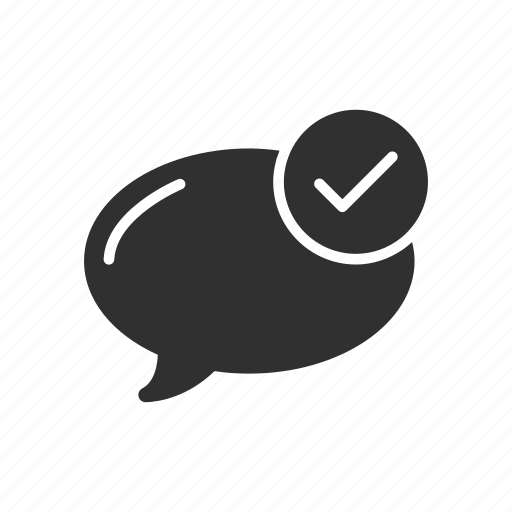 chat, check, comment, message icon