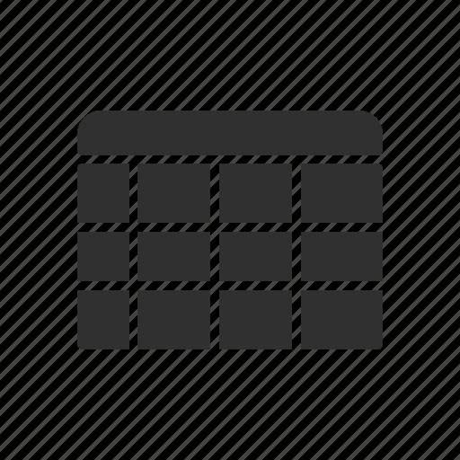 calendar, data, event, log icon