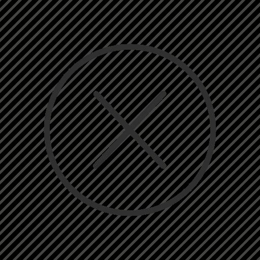 close, delete, multiply, remove icon