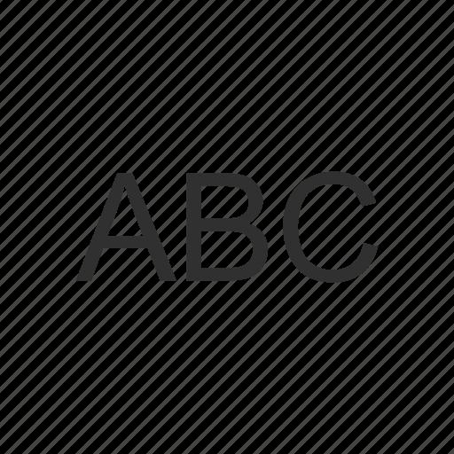 abc, alphabet, letter, text icon