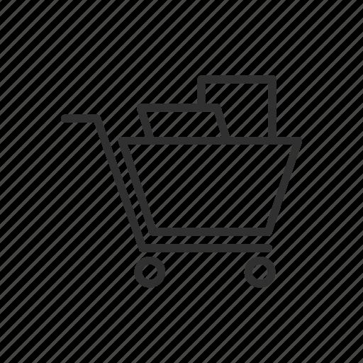 cart, grocery cart, push cart, shopping cart icon