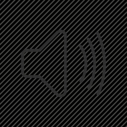 audio, full video, music, speaker icon