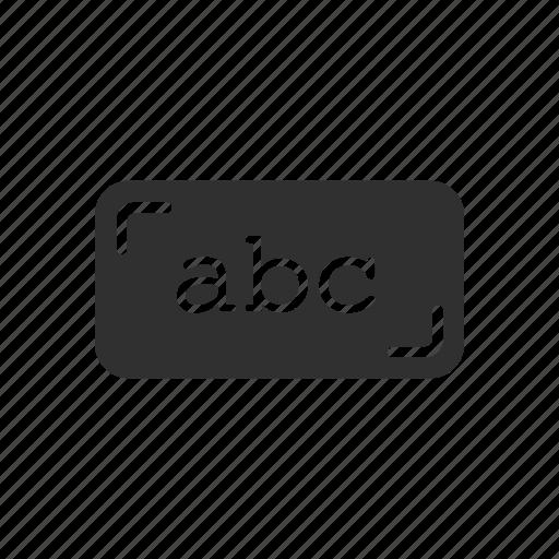 alphabet, letters, text icon