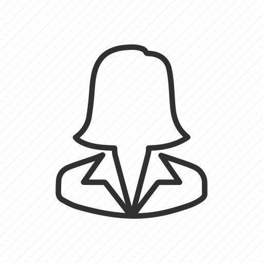 avatar, business, employee, woman icon