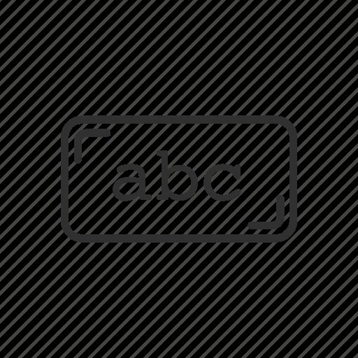 abc, alphabet, card, text icon