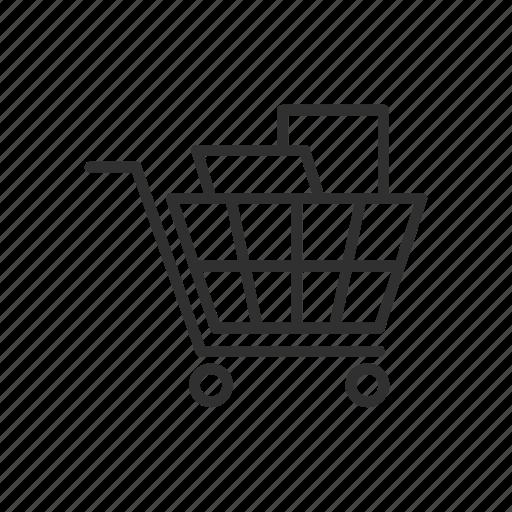 cart, grocery, shopping, shopping cart icon
