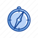 compass, dashboard, measurement, time icon