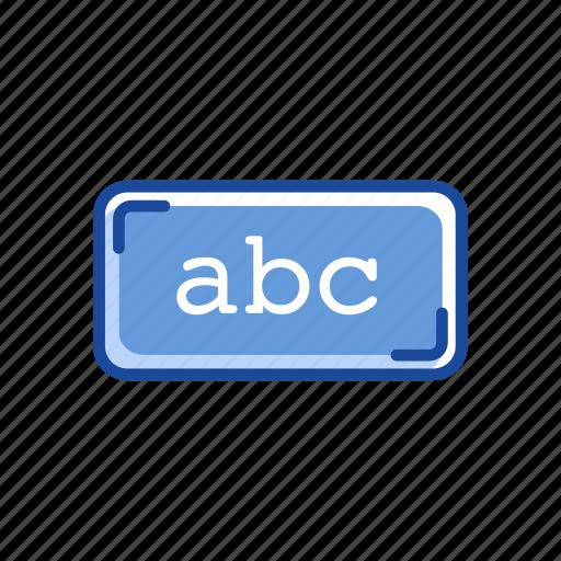 abc, alphabet, letter, text tool icon