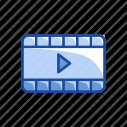 film, flicker, movie, play video icon