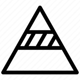 pyramid, pyramid analysis, pyramid statistics icon