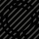 doughnut, doughnut chart, doughnut graph, statistics, wheel icon