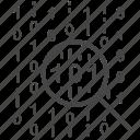 analysis, data, digital, focus, search, strategy, protocol icon