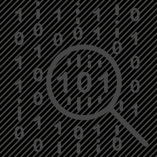 analysis, data, digital, focus, search, strategy icon