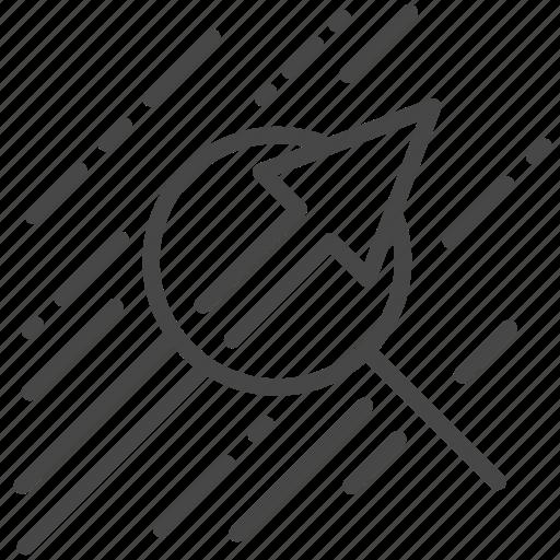 data, growth, margin, profit, strategy icon