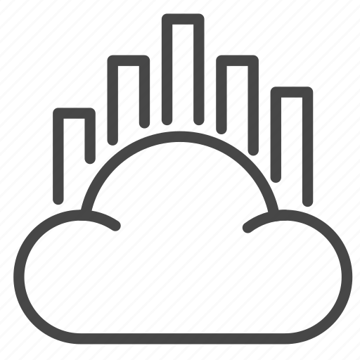 analysis, cloud, data, report, strategy icon