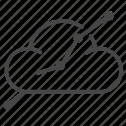 analysis, analyze, cloud, data, graph, strategy icon