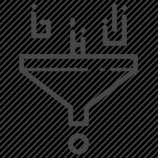 analysis, analyze, data, filter, filtering icon