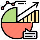 analysis, graph, information, pie, research icon