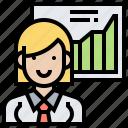 analysis, graph, information, presentation, research icon