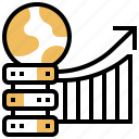 backup, big, data, graph, server icon