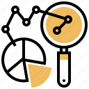 pie, chart, analytic, predictive, research icon